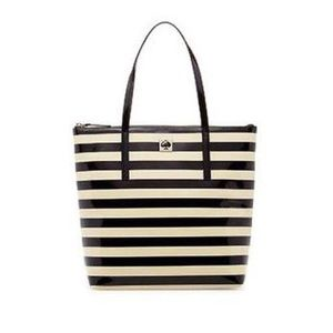 Kate Spade Pammy Striped Patent Leather Tote ♠️